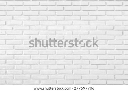 Abstract white brick wall background - stock photo