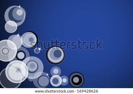 Abstract white circle navy blue background