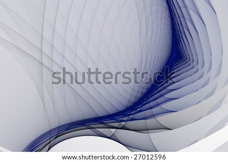 Abstract white fractal background