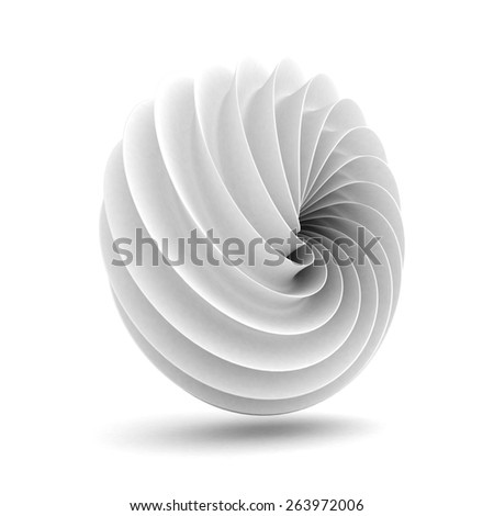 Abstract White Geometric Clean Figure Background. 3d render Illustration - stock photo
