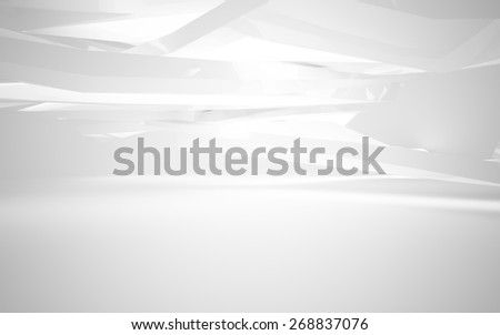 Abstract white interior - stock photo