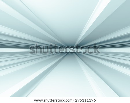 Abstract White Interior Architecture Design Background. 3d Render Illustration - stock photo