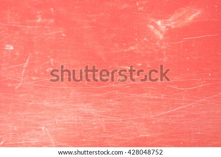 abstract white line on red concrete wall, dirty red concrete wall, white stain on old red concrete wall, abstract background texture