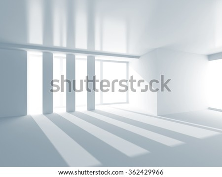 Abstract White Modern Architecture Background . 3d Render Illustration