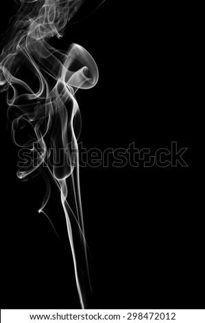 abstract white smoke on black background, white smoke on black background, smoke background,white ink background,smoke background ,beautiful white smoke - stock photo