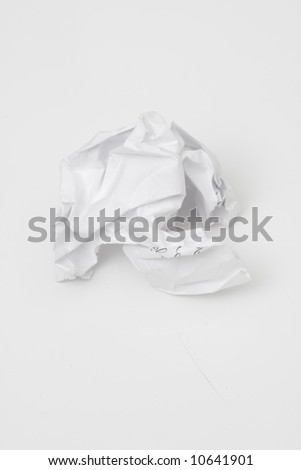 abstract white wrinkled paper background