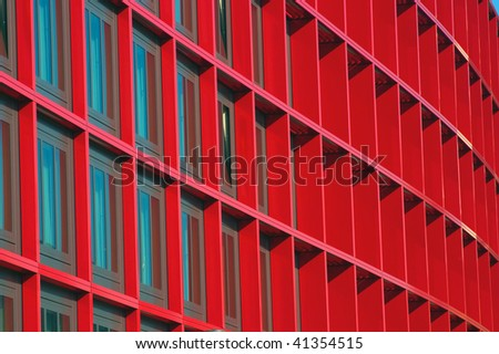 Abstract windows, repeated pattern - stock photo