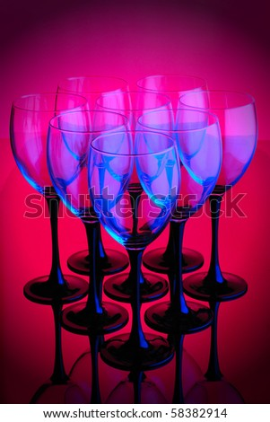 abstract wineglass - stock photo