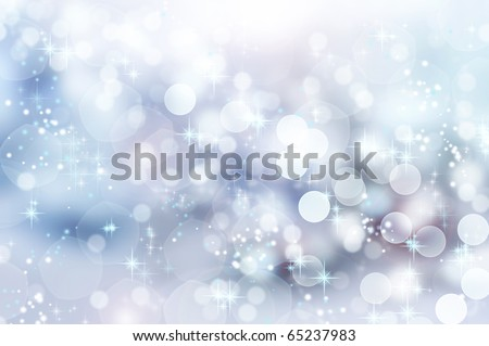 Abstract Winter background abstract bokeh - stock photo