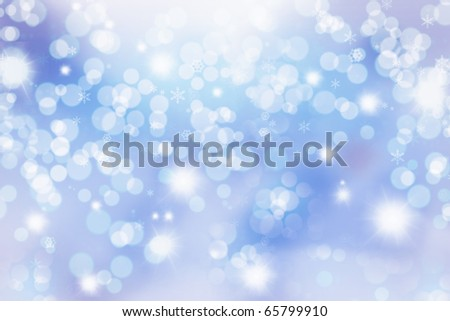 Abstract Winter background.  Christmas abstract bokeh - stock photo