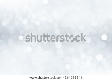 Abstract winter background with bokeh effect - stock photo