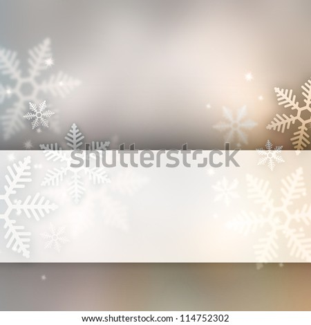 Abstract winter background with copyspace - stock photo