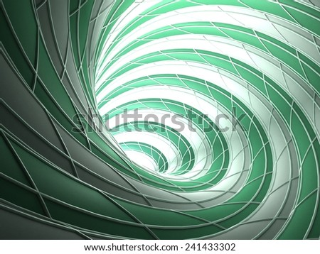 Abstract Wired Teal Vortex Background - stock photo
