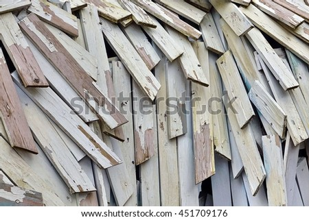 Abstract Wood  Background Or Texture From Nailing Boards Stack - stock photo