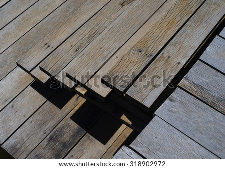 Abstract wooden stairs background texture - stock photo