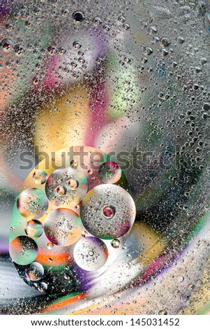 abstract work of oil. Some colorful stripes giving structure in the background - stock photo