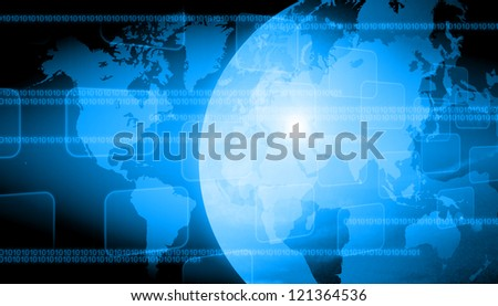 abstract world technology background - stock photo