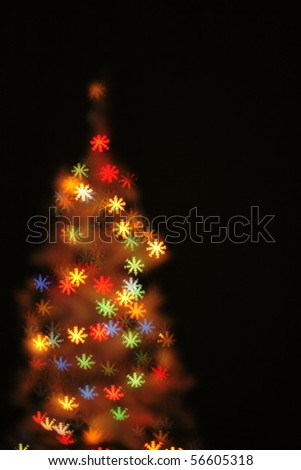 abstract xmas tree