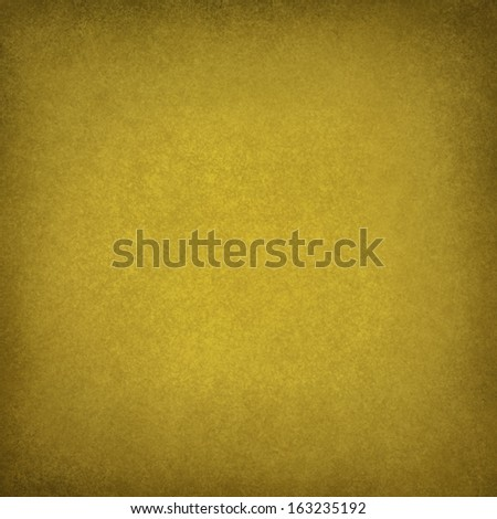 abstract yellow background, soft gold color image for use in brochure ads or web design backgrounds, faint vintage grunge background texture and darker border with light blank center for text - stock photo