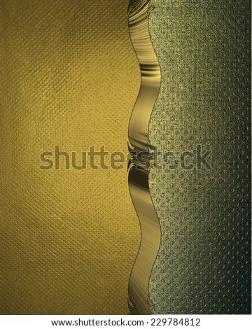 Abstract yellow background with a green edge