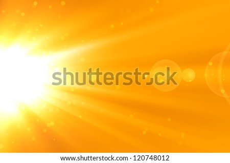 abstract yellow background with lens flare