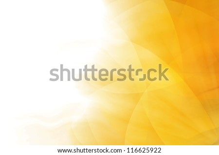 abstract yellow curves background - stock photo