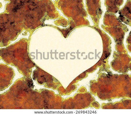 Abstract yellow heart template background