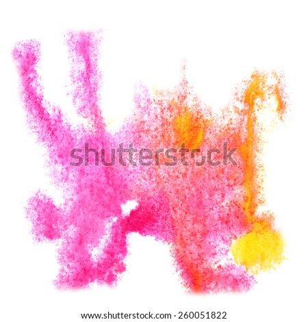 Abstract yellow,pink watercolor background for your design insult