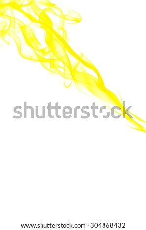 abstract yellow smoke on a white background, Abstract gold smoke on white background, gold background,gold ink background