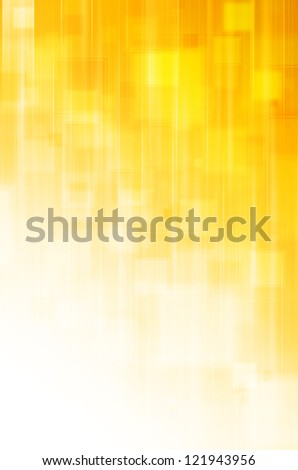 abstract yellow square background - stock photo