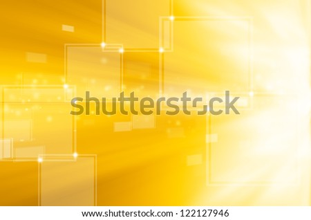 abstract yellow technology background - stock photo