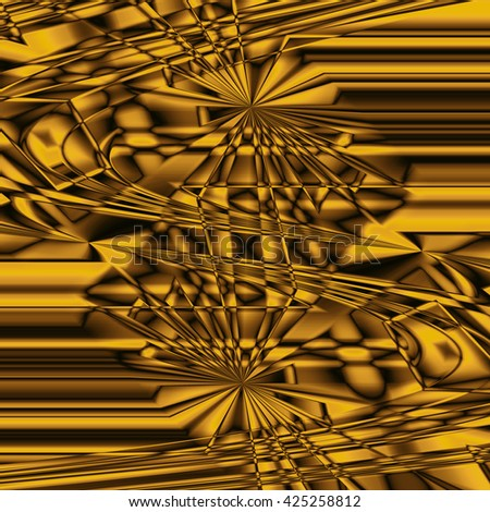 Abstract yellow wallpaper. Abstract fractal. Fractal background art - stock photo