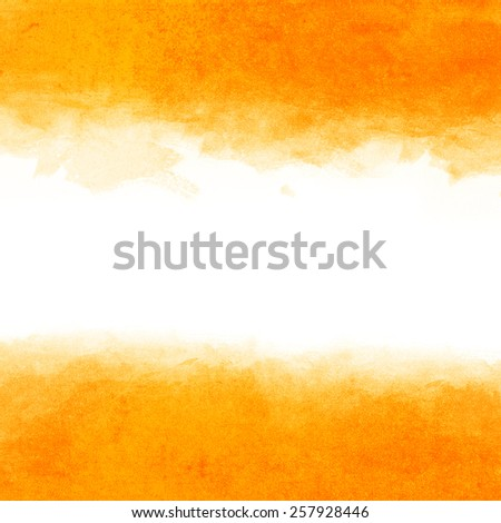 Abstract yellow watercolor background - stock photo