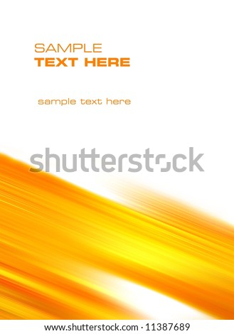 abstract yellow wind - stock photo