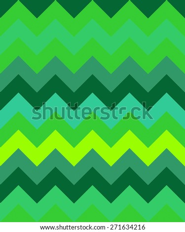 abstract zig zag background wave green triangles pattern - stock photo
