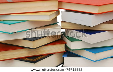 Abstracted textbook in assortment