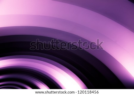 abstraction from puple shining tube - stock photo