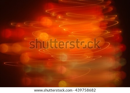 Abstraction in red orange black with lights - stock photo