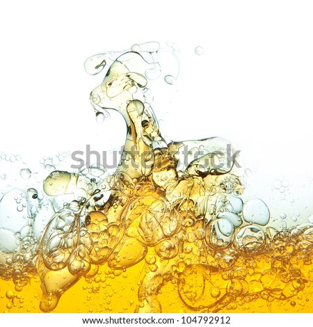 Abstraction, oil bubbles in water. - stock photo