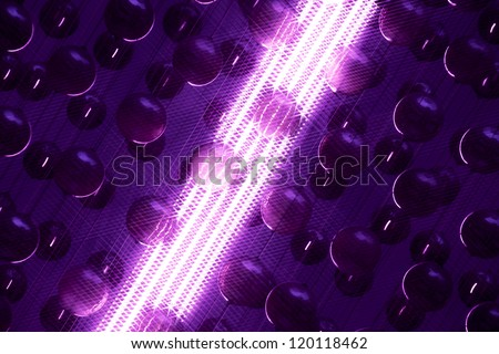 abstraction with christmas decorations and shining tube - stock photo