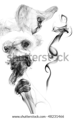 Abstractions from smoke on white background