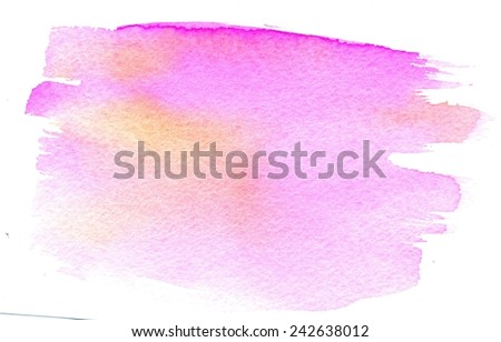 Abstractive pink and orange watercolor texture as grunge background. - stock photo