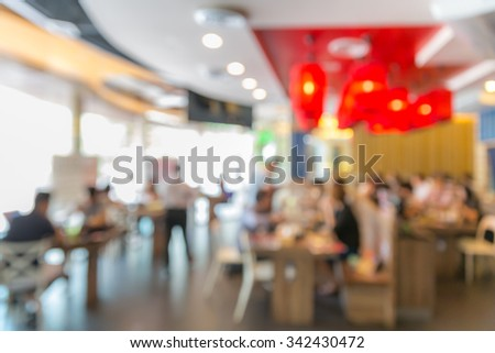 Abstrast Blurred background : restaurant cafe blur with bokeh - stock photo