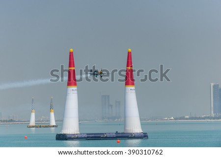 Abu Dhabi - MARCH 12: Race Session Masters and Challengers Cup on Red Bull Air Race World Championship 2016 in United Arab Emirates on March 12, 2016 in Abu Dhabi, UAE