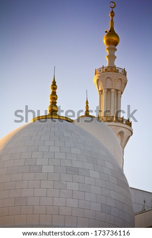 Abu Dhabi Sheikh Zayed Grand Mosque, UAE - stock photo