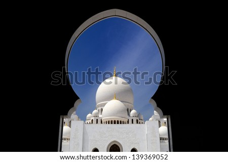 Abu-Dhabi. Sheikh Zayed mosque - stock photo