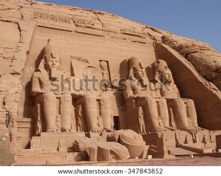 Abu Simbel, Egypt - stock photo