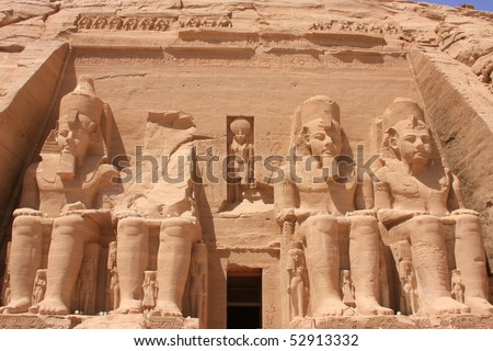 Abu Simbel temple in Egypt - stock photo
