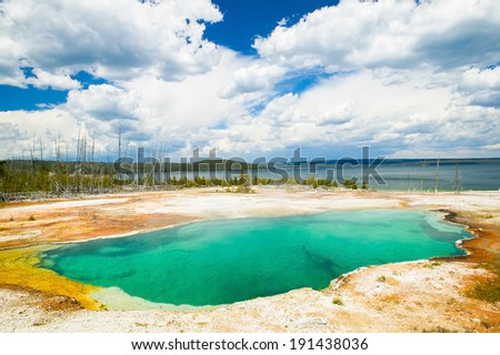 Abyss Pool Geyser Basin Yellowstone National Park in Wyoming USA
