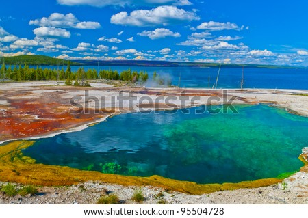 Abyss Pool in the West Thumb Geyser Basin of Yellowstone National Park